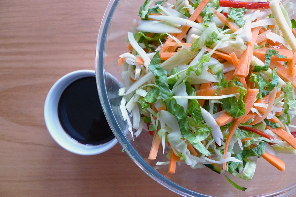 Thai chopped salad is crunchy, fresh and easy. It does involve a lot of chopping, though.