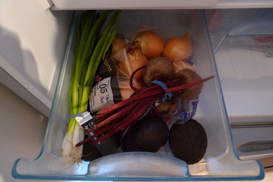 Veg drawers. My fridge has three.