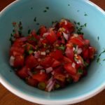 Pico de gallo - like salsa, only chunkier.