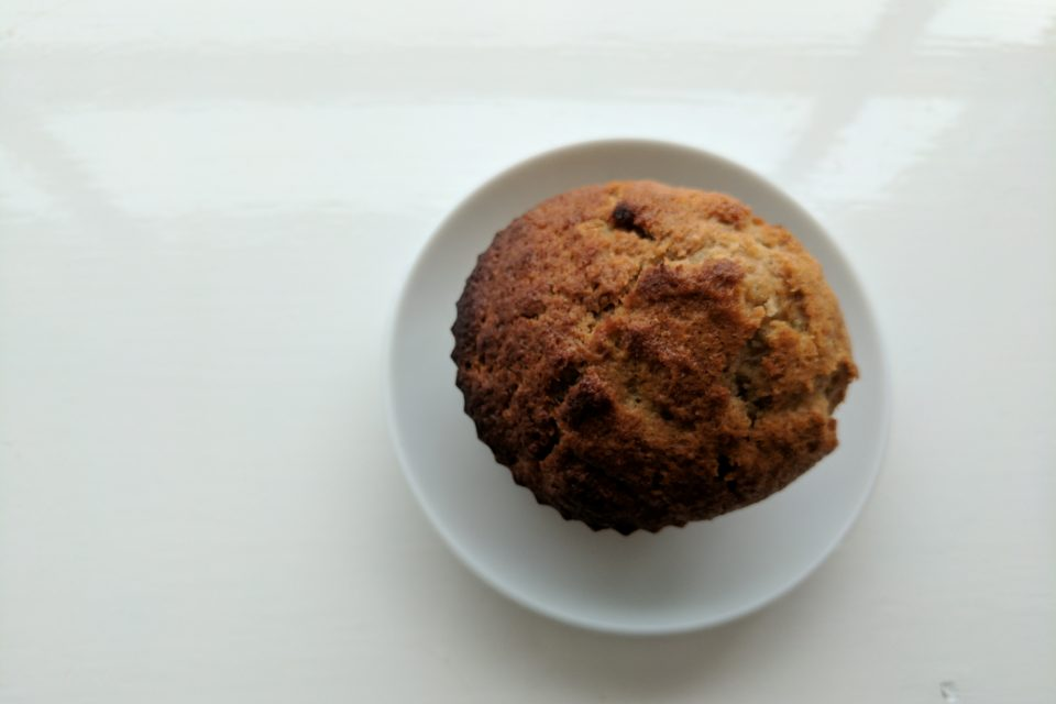 Vegan apple muffin.